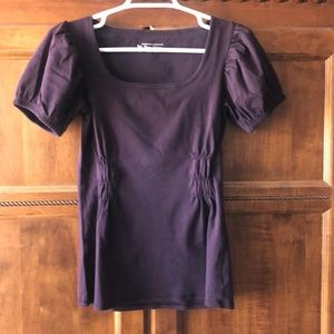 Maroon or dark wine-colored cotton T-Shirt size M
